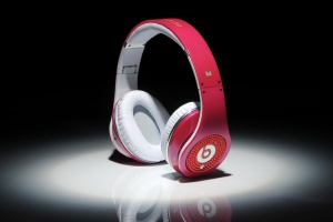 Monster Beats Dr Dre Red Diamond Headphones, pink