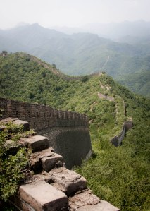 The Jiankou section of the Great Wall of China