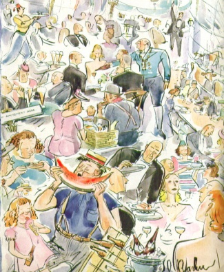 New Yorker cover, 'Barlow families feasting.) (7/20 1940)