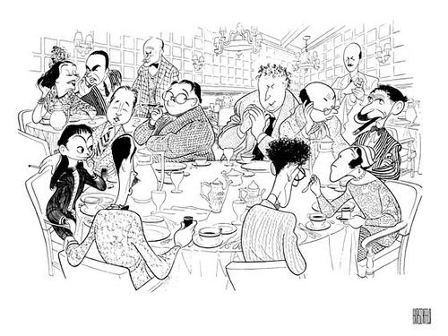 "alt=""The Algonquin Round Table by New York characterist, Al Hirschfeld (1903-2003)"""