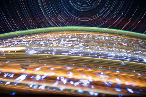 "Astronaut Don Pettit's ""Star Trails"" from Space Station (Taken throughout 2012)"