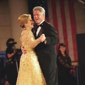 President William Jefferson Clinton and First Lady Hillary Rodham Clinton Dancing at the Tennessee Inaugural Ball in Washington, DC. (Courtesy of US National Archives)