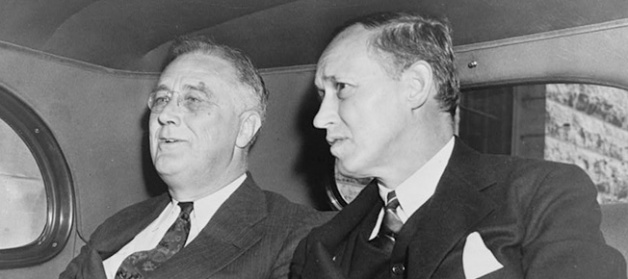President Franklin D. Roosevelt with Harry Hopkins, 1938