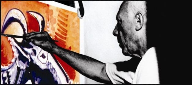 Picasso's rare painting on film