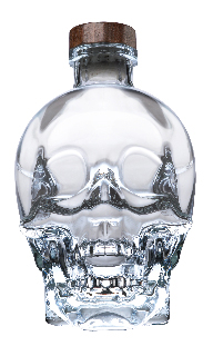 "alt=""Crystal Head Premium Vodka - created by screen legend Dan Aykroyd, bottle designed by American artist John Alexander"""