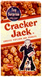 Cracker Jack candy started featuring a prize in 1912 and has huge ties to baseball lore.