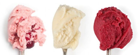 "alt=""Cherry Lambic, Reisling Poached Pear and Cranberry Royale Sorbets by Jeni's Splendid Ice Creams"""