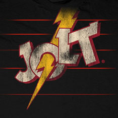 Jolt logo from a vintage 80's t-shirt