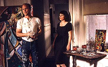 Ed Harris as Jackson Pollock and Marcia Gay Harden as his wife Lee Krasner nail the spirit of turmoil that existed beneath every drip of Pollack's paint.