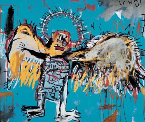 """""""Fallen Angel"""" by Basquiat. (Photo Courtesy of Basquiat Estate)"""
