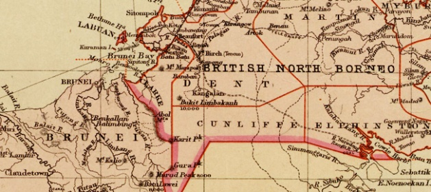 Map of Brunei and British Northern Borneo