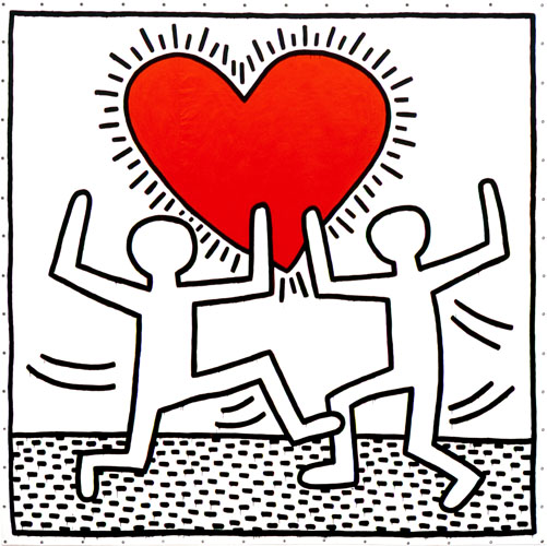"""Against All Odds"" (Courtesy of the Keith Haring Estate)"