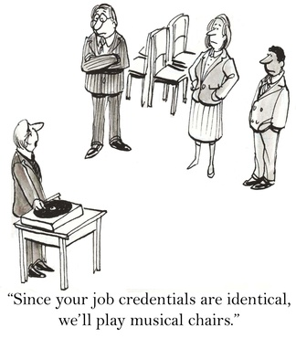 """Since your job credentials are identical, we'll use musical chairs."""