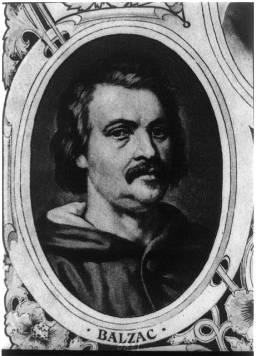 Honoré de Balzac (Courtesy of the Library of Congress)