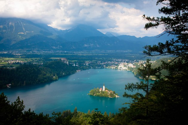 Castle on Lake Bled, Slovenia