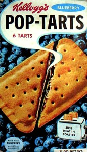 Pop Tarts wore revolutionary shrink wrapped packaging when introduced in 1963 - the technology was organically used for dog food.