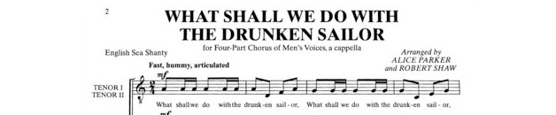 What Should We Do With a Drunken Sailor?