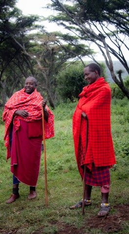 Colorful red robes, Africa