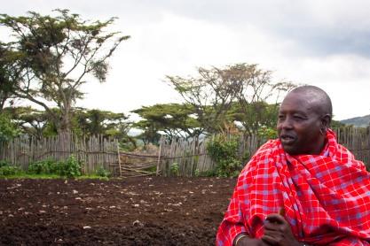 Massai elder in Tanzania, Ole Durup
