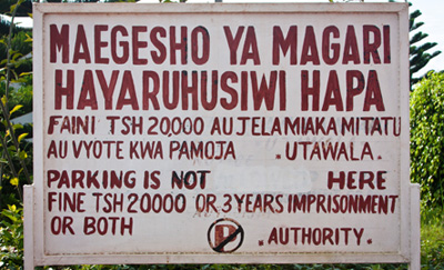 That is one steep penalty. They aren't f'in around in Tanzania.
