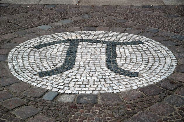 The constant π is represented in this mosaic outside the mathematics building at the Technische Universität Berlin. (Courtesy of Wikipedia Commons)