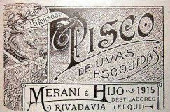 "Chilean ""Pisco Aviador"" label from 1915 (Courtesy Wikipedia Commons)"