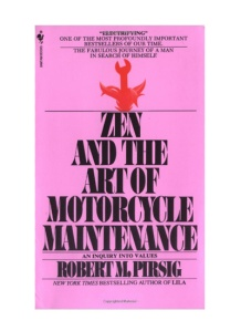 "Best Books About Travel and Adventure: ""Zen and the Art of Motorcycle Maintenence"" -- The narrative of a father on a summer motorcycle trip across America's Northwest with his young son, it becomes a profound personal and philosophical odyssey into life's fundamental questions."