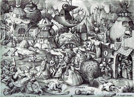 Pieter Bruegel the Elder- The Seven Deadly Sins or the Seven Vices - Envy