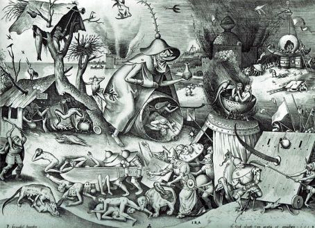 Pieter Bruegel the Elder- The Seven Deadly Sins or the Seven Vices - Wrath