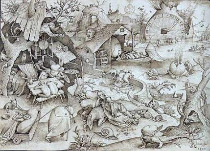 Pieter Bruegel the Elder- The Seven Deadly Sins or the Seven Vices - Sloth