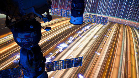 """Star Trails"" by Don Pettit from station. Image courtesy Don Pettit / NASA  @astro_Pettit"