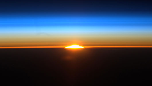 Sunrise from the International Space Station, by astronaut Ron Garan  @Astro_Ron