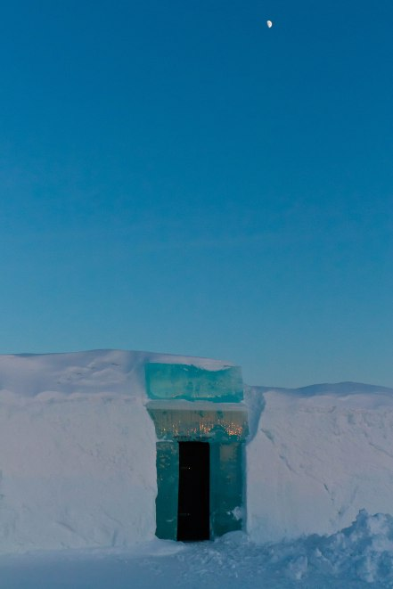 Icehotel in Jukkasjarvi, Lapland Wilderness, Northern Sweden. -- World on a Fork