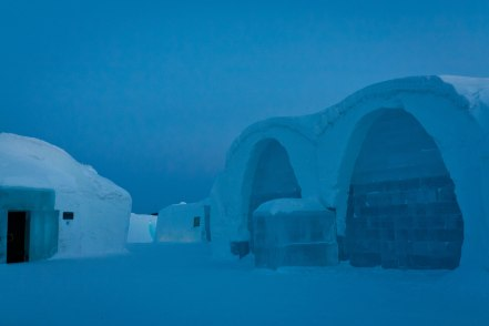 Wandering the grounds of the Icehotel