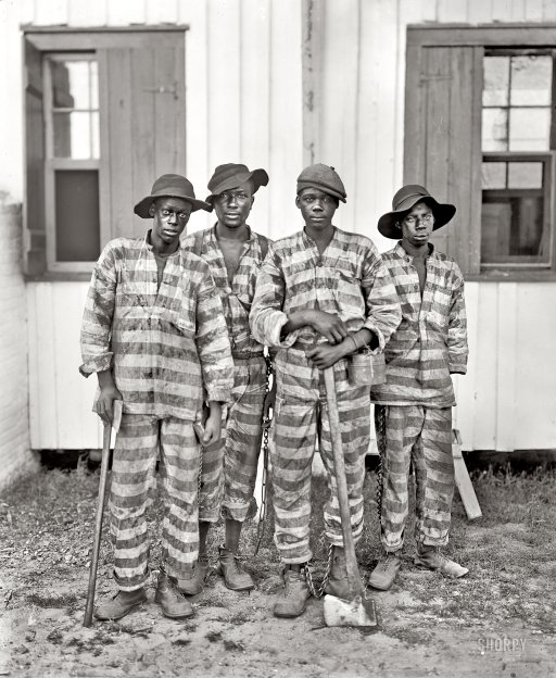 """A Southern chain gang."""