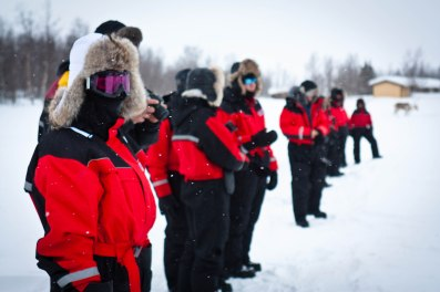 Sledders suited for the Arctic chill