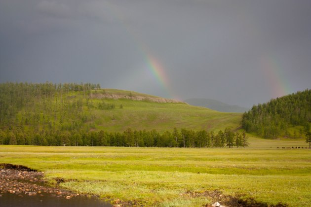 Rainbows falling into the Lapis Sky Camp