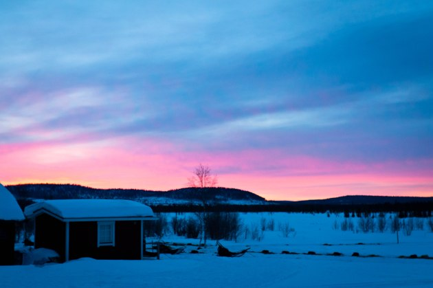 Sunrise in the Arctic wilderness -- Lapland, Sweden
