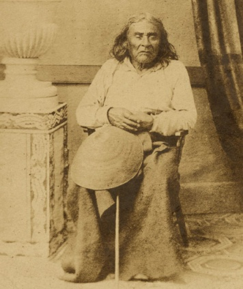 Chief Seattle, c. 1864. This is the only known photograph of the Indian elder. (Courtesy University of Washington Digital Library)