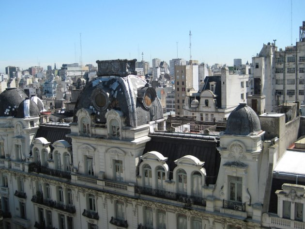 View from hotel in downtown Buenos Aires, Argentina