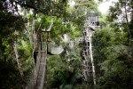 "Suspension bridges climb through the Amazon, ""very safe!"""