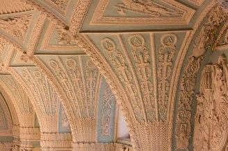 Ornate wall in Saint Petersburg's State Hermitage Museum