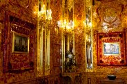 """The fabled """"Amber Room"""" at Catherine's Palace in Pushkin, St. Petersburg, Russia."""