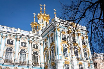 Winter at Catherine's Palace in Pushkin, St. Petersburg, Russia.
