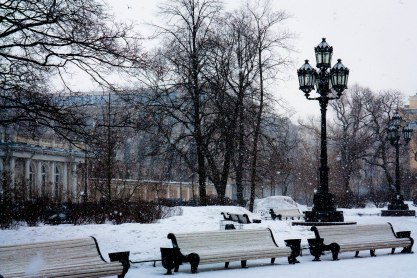 Park of Monument of Catherine the Great, St. Petersburg, Russia