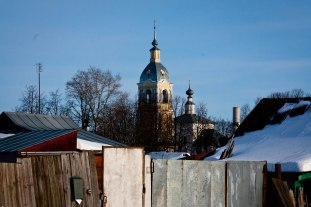 Neighborhood in Suzdal, Western Russia