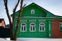 Colorful house in Suzdal, Western Russia