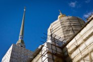 Russia's domed churches under restoration.