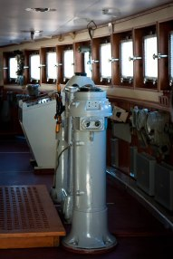 Control room at the Icebreaker Krasin Museum in St. Petersburg