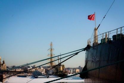 The Icebreaker Krasin Museum in St. Petersburg